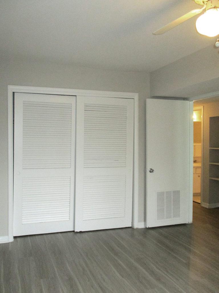 Bedroom door leading to hall